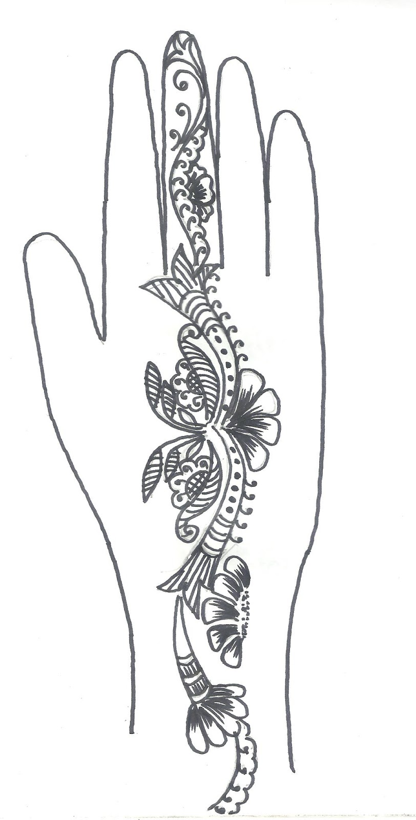 Arabic Mehndi Design Sketches | makedes.com