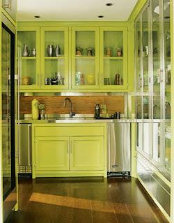 hermosa cocina verde