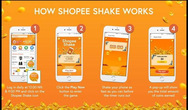 Shopee Launches Latest In-App Game, Shopee Shake,  With Over 2.5 Million Shopee Coins to be Given Away;  Debut Game Coins Run Out in Less Than 60 Seconds