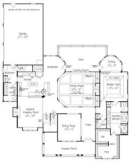 แบบบ้าน 2 ชั้น แปลนบ้านชั้นล่าง