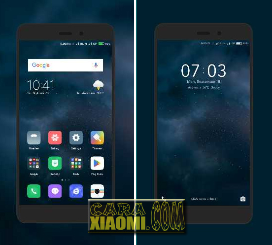 MIUI Theme Space and Dark Reborn Dark Theme New Update