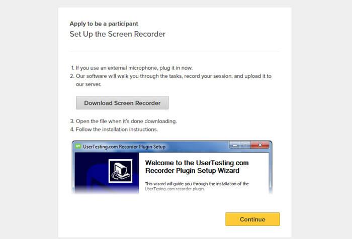 Hình ảnh phần mềm UserTesing