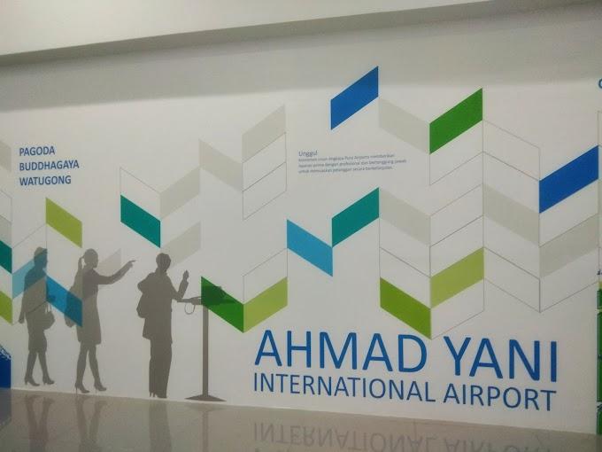 Eloknya Bandara Udara International Baru Ahmad Yani Semarang