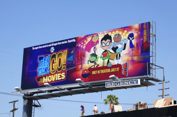 DC Teen Titans Go! to the Movies billboard