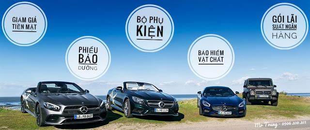 Quý khách hàng sẽ thoải mái lựa chọn các hình thức khuyến mãi tại Mercedes Hà Nội