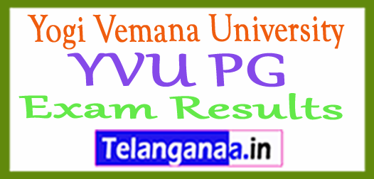 Yogi Vemana University YVU PG Exam Results