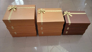 kotak hantaran pernikahan emboss