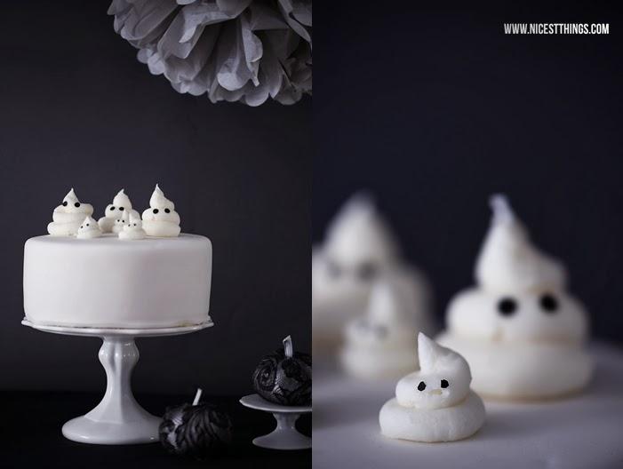Geister Torte Halloween Torte