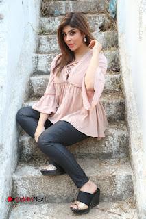 Telugu Actress Aditi Singh Stills in Leather Pants at Nenu Kidnap Iyanu Movie Press Meet  0216.JPG