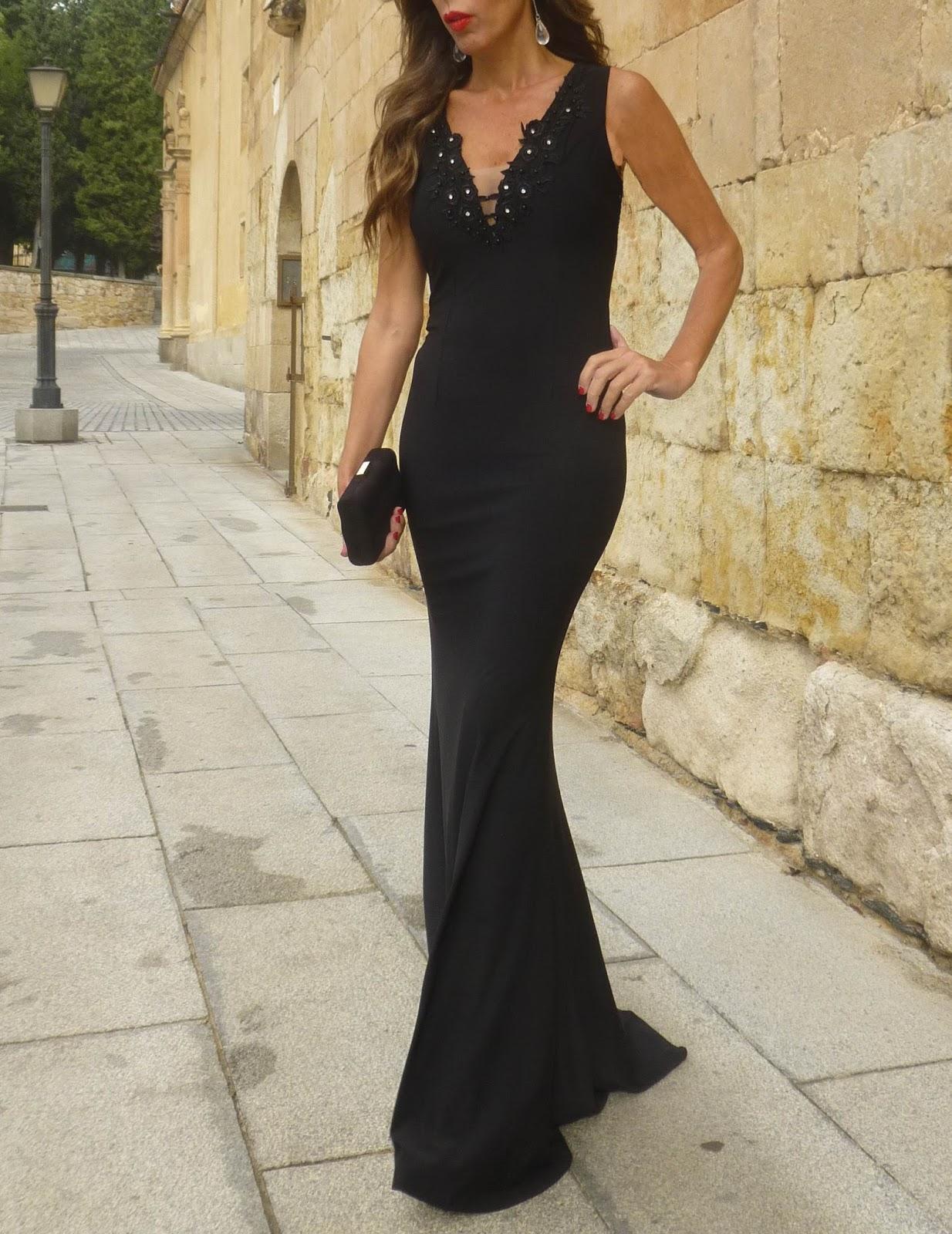 Vestido largo top queens