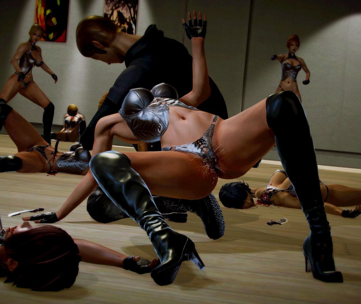 Hình ảnh 039 in Truyện Hentai 3D Nữ chiến binh Ryona