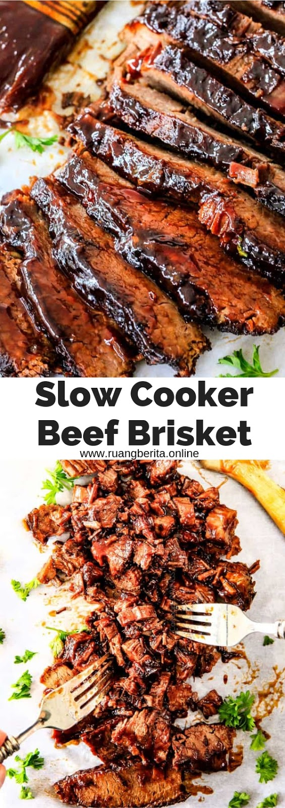 Slow Cooker Beef Brisket #slowcooker #beef #brisket #dinner #maincourse