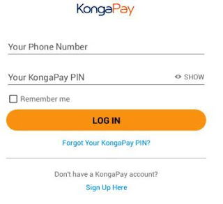 kongapay-log-in-screen