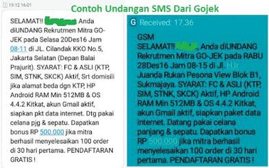 Cara Daftar Gojek Melalui SMS, Daftar Gojek Lebih Cepat!