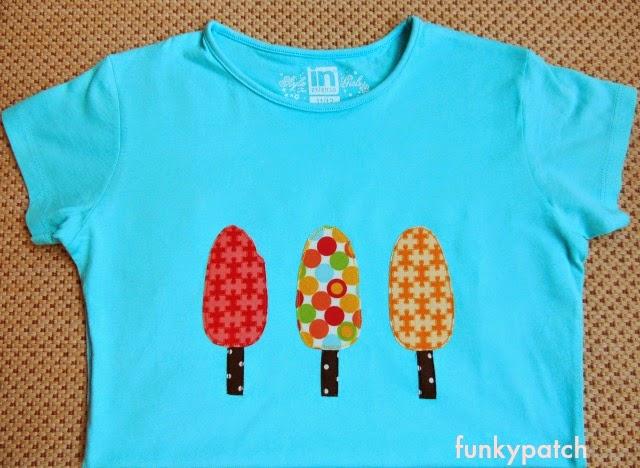 camiseta con aplicaciones de dibujos de polos de funkypatch