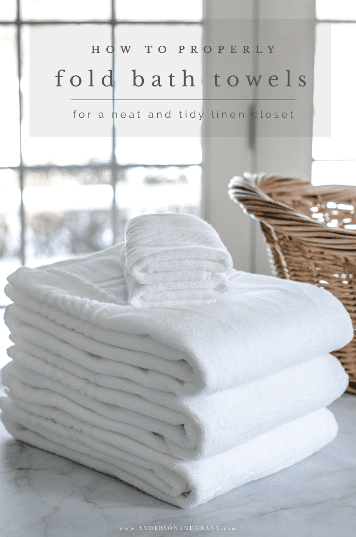 How to Fold Bath Towels for a Tidy Linen Closet  anderson  grant