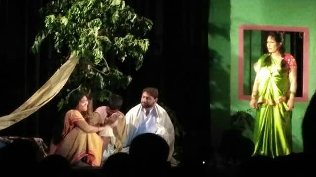 कोकिल मंच: मैथिली नाटक 'बेलक मारल' केर मंचन