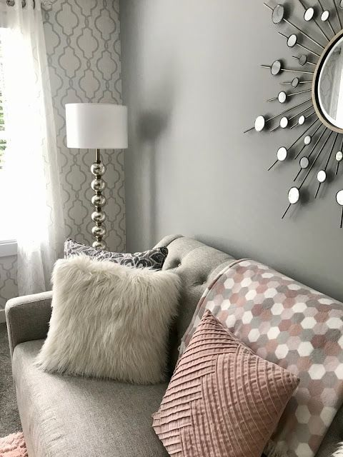 glam living room makeover