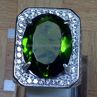 Cincin Batu Permata Green Tektite - ZP 1066