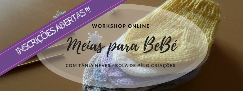 Workshop Online Meias para bebé