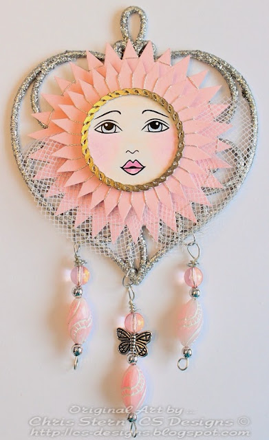 Goddess dream catcher altered art