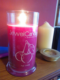 Lit Jewel Candle Pink Cherry