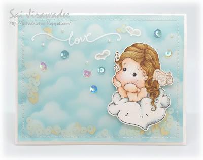 Magnolia Cloudy Love Tilda Shaker Card