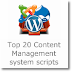 Top 20 Content Management system scripts