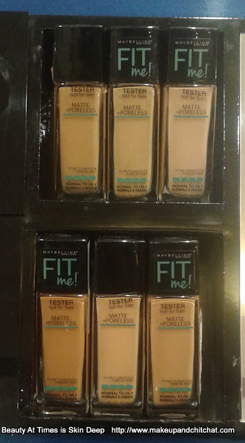 Maybelline Fit Me Matte and Poreless Foundation all shades