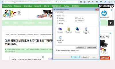 Cara Mengembalikan Recycle Bin Terhapus Pada Windows 7