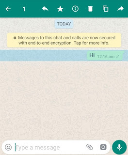 Select WhatsApp message you want to delete
