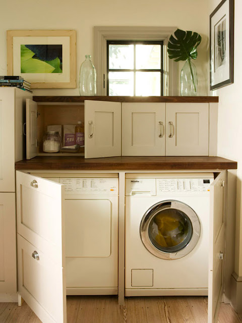 Ideas for Hiding the Washer and Dryer | Driven by Decor