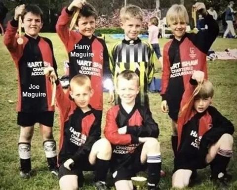 Maguire đam mê chơi bóng từ thuở bé