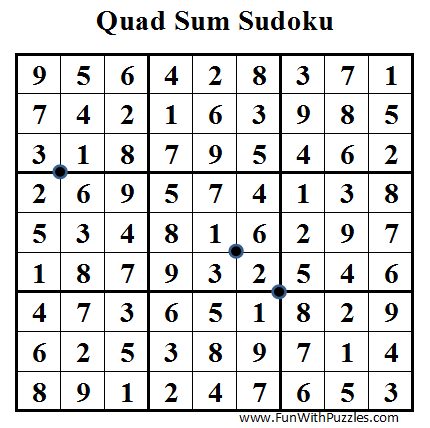 Quad Sum Sudoku (Daily Sudoku League #35) Solution