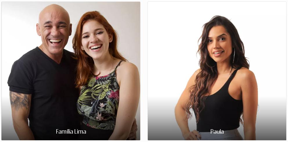 Vote no Paredão do BBB18 desta semana: FAMÍLIA LIMA X PAULA e veja a enquete de quem esta ganhando