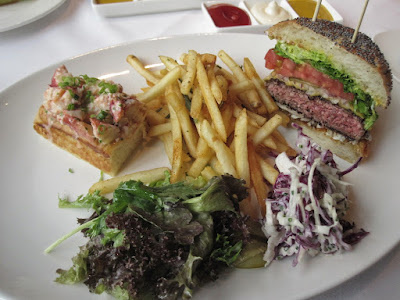 Luke's Oyster Bar & Chop House, travis burger lobster roll