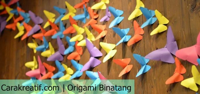 Cara membuat origami binatang dengan mudah