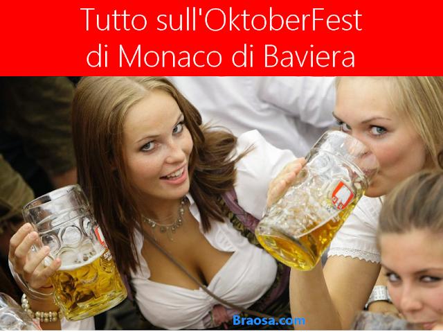 Tutto sull'oKtoberfest 2018  a Monaco di Baviera festa della birra