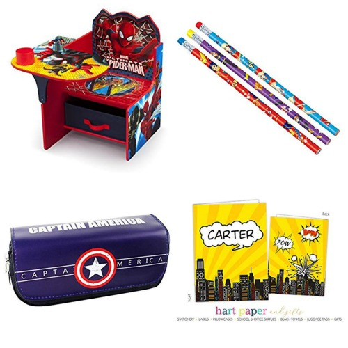 back to school super hero supplies