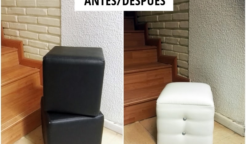 ANTES Y DESPUÉS DE UNOS TABURETES