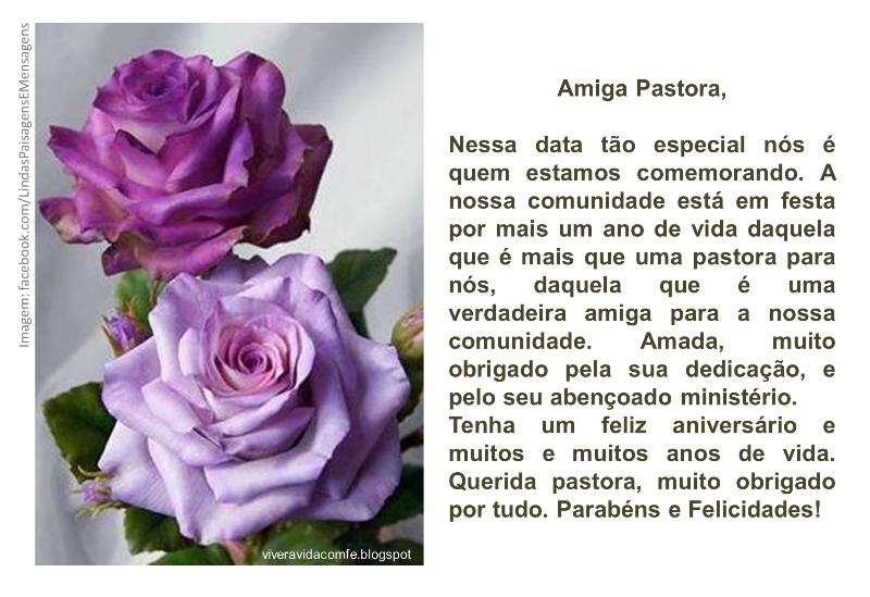 Mensagem Aniversario De Pastor: Mensagem Aniversario Pastora