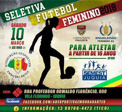 Juquiá recebe seletiva de futebol feminino
