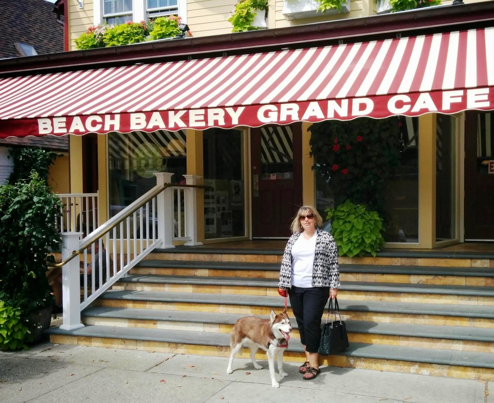 At dog friendly Beach Bakery Grand Cafe in The Hamptons, Long Island NY