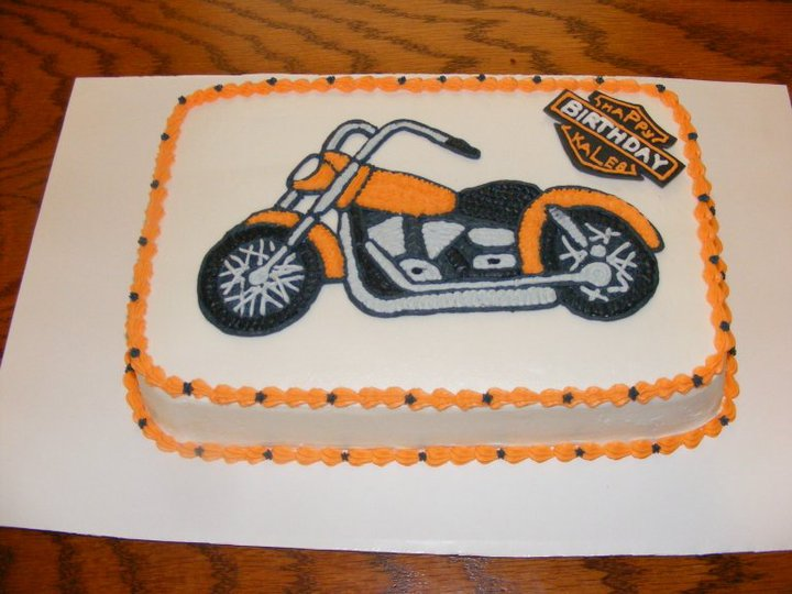 Famous Dana's Cake Creations: Harley Motorcycle Cake BK38
