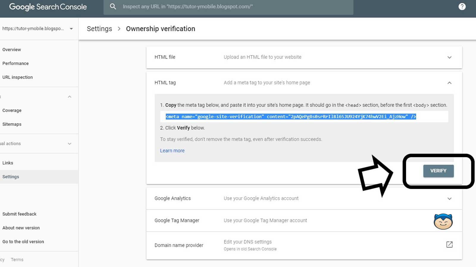 Cara Membuat Google Search Console Step 11