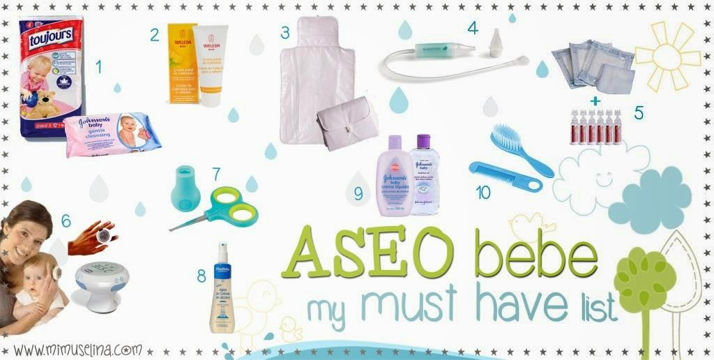 ASEO DEL BEBE MUST HAVE LIST MIMUSELINA
