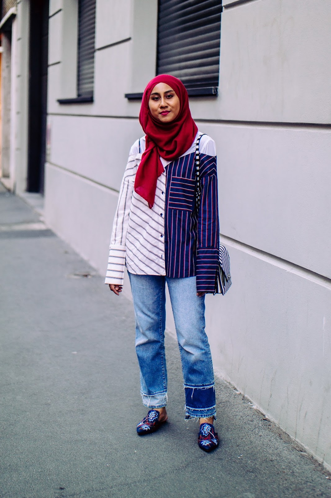 How To Make an Off-the-Shoulder Top Hijab-appropriate