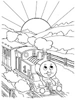 Printable Thomas The Tanks Engine Coloring Pages