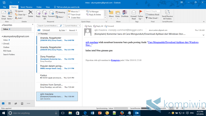 Cara Memasukkan Akun Gmail ke Outlook 2016 (dengan 2-Step Authentication) 5
