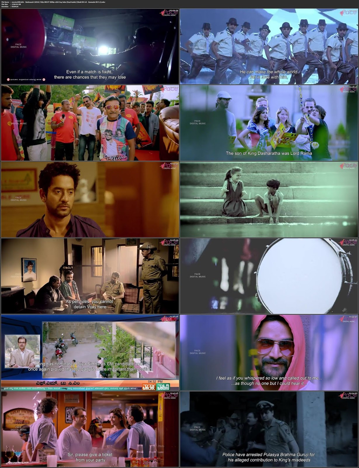 Badmaash 2016 Dual Audio UNCUT HDRip 720p 1.3GB